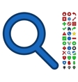 Find Tool Symbol With Toolbar Icon Set vector image