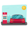flat of electric car charging at the charger vector image
