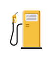 gas station with pump isolated on white vector image vector image