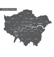 greater london administrative map vector image
