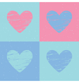Grunge heart background Valentines day pattern vector image vector image