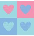 Grunge heart background Valentines day pattern vector image