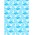 H2o toy blocks in a repeat pattern vector image vector image