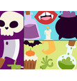 halloween carnival cards with vector image vector image