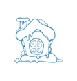 hand drawn christmas or winter house vector image vector image