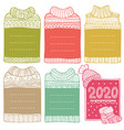 hand-drawn winter frames in shape sweaters vector image vector image