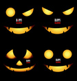 Happy Halloween background with Halloween pumpkin vector image