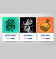 happy halloween web flyer concepts vector image vector image