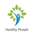 healthy people logo vector image vector image