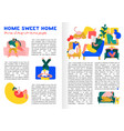 home rest infographics vector image vector image