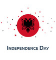 independence day of albania patriotic banner vector image