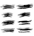ink brush strokes set vector image vector image