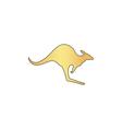 Kangaroo computer symbol vector image vector image