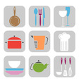 kitchen tool icons vector image vector image