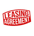 leasing agreement sign or stamp vector image vector image
