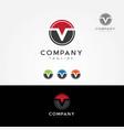 letter v logo symbol icon vector image