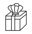 line present gift box with crown accessory vector image vector image