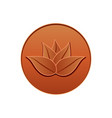 lotus leather logo seal design vector image