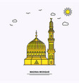 madina mosque monument poster template world vector image