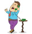 Man on phone cartoon vector image vector image