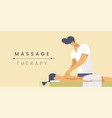 massage therapy flat banner template vector image vector image