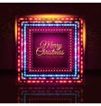 Merry Christmas and Happy New Year card with frame vector image