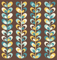 midcentury geometric retro pattern vintage colors vector image