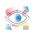 modern vision eye concept in trendy line vector image