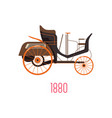 motor wagon 1880 side view and car vector image vector image