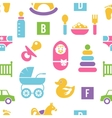 Newborn and toys background vector image vector image