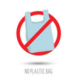 no plastic bag forbidden sign vector image