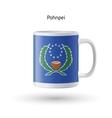 Pohnpei flag souvenir mug on white background vector image vector image