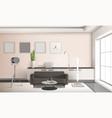 realistic living room interior 3d design vector image vector image