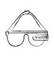 reality virtual glasses icon vector image
