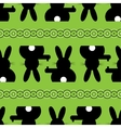 seamless - Easter bunny background vector image vector image