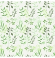 Seamless green plant background vector image