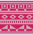 Seamless knitted pattern christmas sweater design vector image vector image