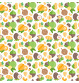 seamless pattern with nuts vector image vector image