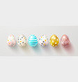 set of color easter eggs with shadow traditional vector image vector image