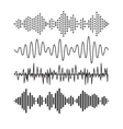 Set of sound audio waves music EQ musical melody vector image