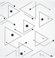 simple pattern from triangles of lines and black vector image