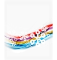 Snowflakes on wave line Christmas and New Year vector image
