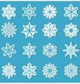 snowflakes sticker set snowflakes stickers vector image