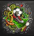 soccer cartoon doodle vector image vector image
