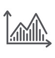 stock chart line icon graph and finance vector image