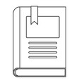 story book icon outline style vector image