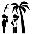 Summer Beach Photo Session Pictograms Flat People vector image vector image
