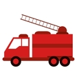 truck fire rescue urgency attention vector image vector image