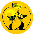 two cats halloween vector image vector image