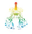 Violin with Notes3 vector image vector image